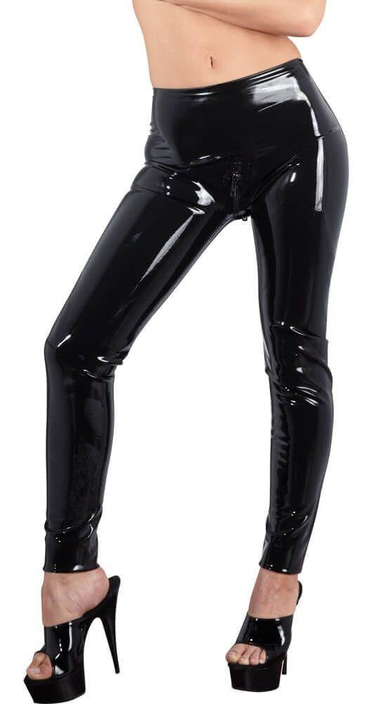 LATEX - cipzáros leggings (fekete)